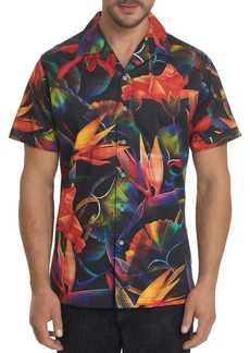 Robert Graham Arora Short-Sleeve Tropical Floral-Print Classic Fit Shirt