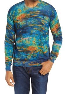 Robert Graham Art Armour Crewneck Cotton & Linen Sweater
