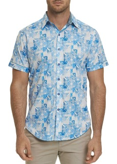 Robert Graham Athens Short-Sleeve Geometric-Print Classic Fit Shirt