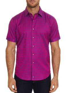 Robert Graham Atlas Short-Sleeve Jacquard Print Classic Fit Shirt