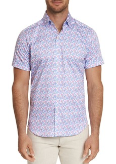 Robert Graham Banner Short-Sleeve Pixel-Print Classic Fit Shirt