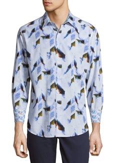 Robert Graham Barrowcliffe Cotton Casual Button-Down Shirt