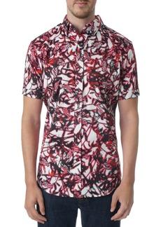 Robert Graham Bayfield Tailored Fit Short Sleeve Shirt - 100% Exclusive