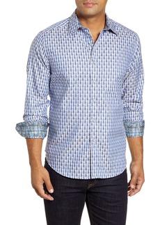 Robert Graham Berman Regular Fit Long Sleeve Geo Pattern Button-Up Sport Shirt