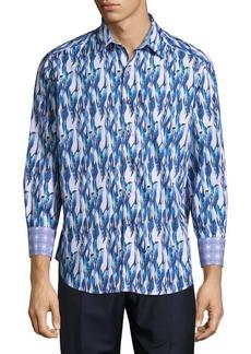 Robert Graham Bolderwood Cotton Casual Button-Down Shirt