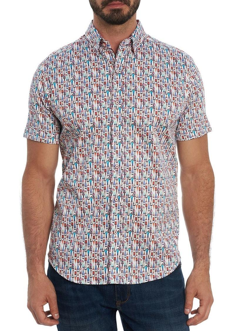 Robert Graham Bottoms Up Tailored Fit Short Sleeve Shirt