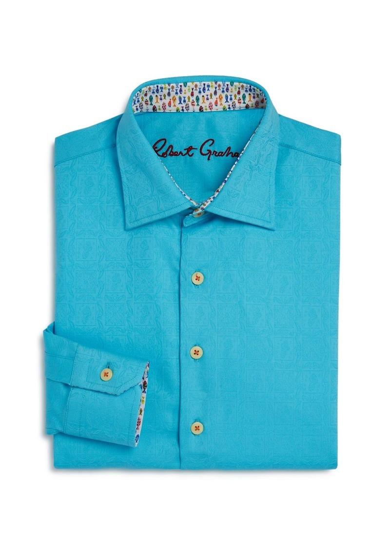 Robert Graham Boys' Bozeman Solid Dress Shirt - Big Kid