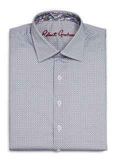 Robert Graham Boys' Crossett Cotton-Blend Small Check Dress Shirt - Big Kid