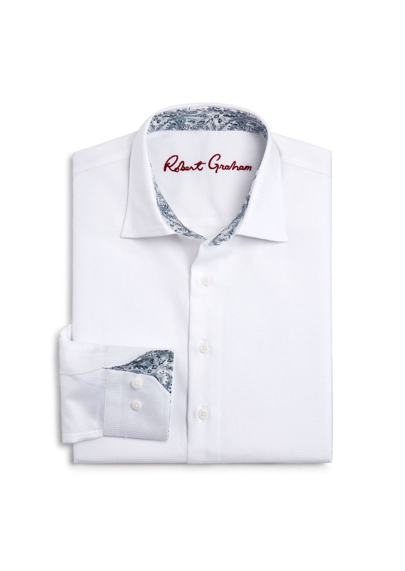 Robert Graham Boys' Joy Neat Textured Dress Shirt - Big Kid