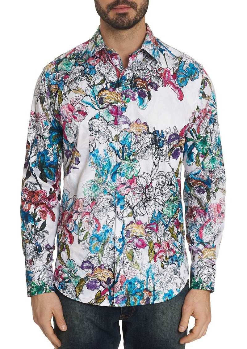 Robert Graham Broken Blossom Floral-Print Classic Fit Shirt