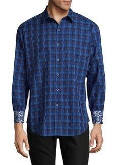 Robert Graham Burman Cotton Casual Button-Down Shirt