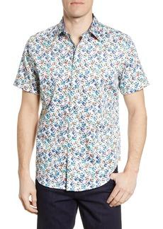Robert Graham Camera Print Short Sleeve Button-Up Shirt