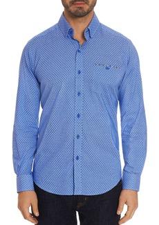 Robert Graham Carrison Dot-Print Tailored Fit Shirt - 100% Exclusive