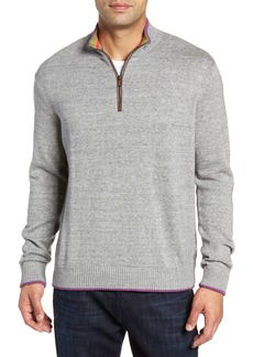 Robert Graham Cavalry Classic Fit Quarter Zip Sweater