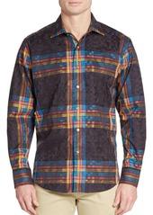 Robert Graham Classic-Fit British Isles Cotton Sportshirt