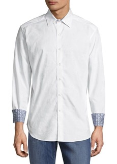 Robert Graham Classic-Fit Button-Down Solid Casual Shirt