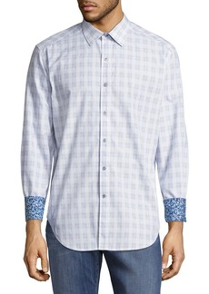 Robert Graham Classic-Fit Check Cotton Casual Shirt