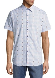 Robert Graham Classic-Fit Printed Cotton Casual Shirt