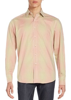 Robert Graham Classic-Fit Wick Multicolored Check Cotton Sportshirt