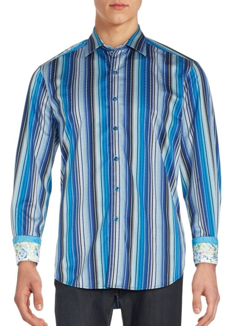Robert Graham Classic Relaxed-Fit Striped Cotton Sportshirt