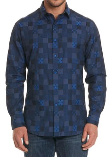 Robert Graham Concord Tonal-Check Sport Shirt