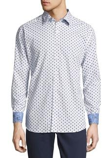 Robert Graham Cotton Designed Button-Down Shirt