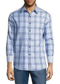 Robert Graham Cotton Plaid Shirt