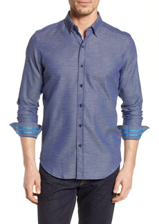 Robert Graham Crantor Tailored Fit Knit Sport Shirt