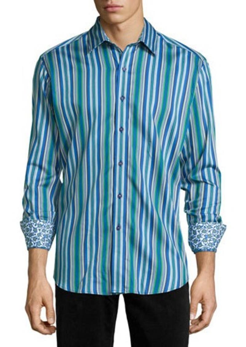 Robert Graham Crookstown Long-Sleeve Striped Sport Shirt