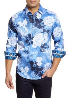 Robert Graham Crystal Classic Fit Button-Up Sport Shirt