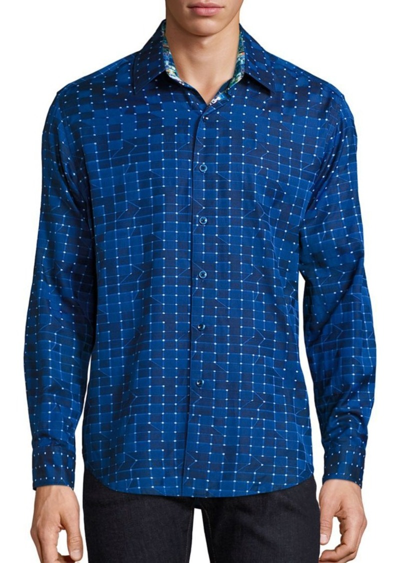 Robert Graham Dark Matter Dotted Shirt