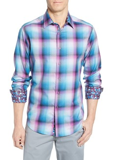 Robert Graham Dion Classic Fit Check Cotton Sport Shirt