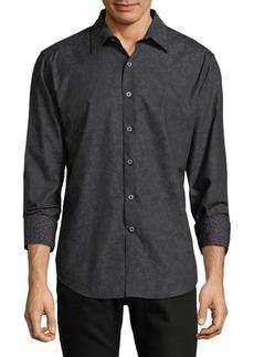 Robert Graham Dotted Cotton Button-Down Shirt