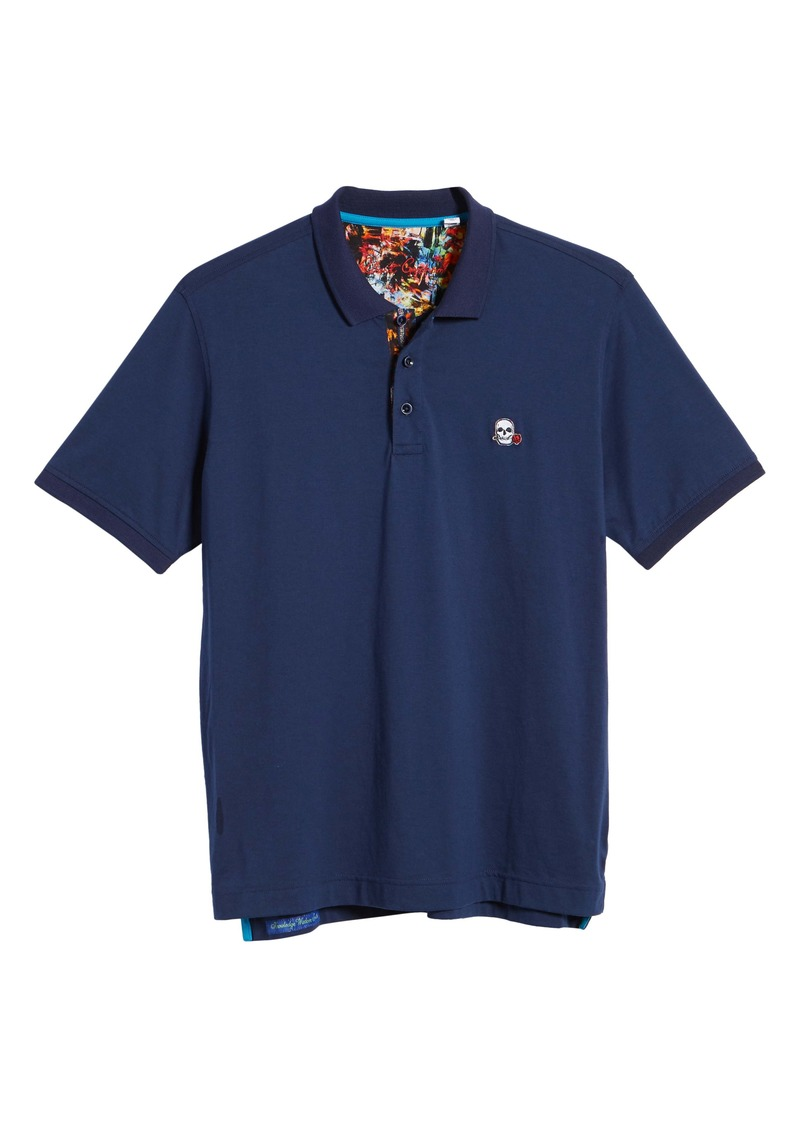 Robert Graham Easton Classic Fit Skull Appliqué Polo