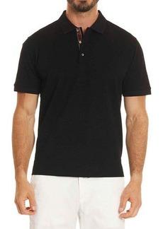Robert Graham Edwin Tonal-Pattern Polo Shirt