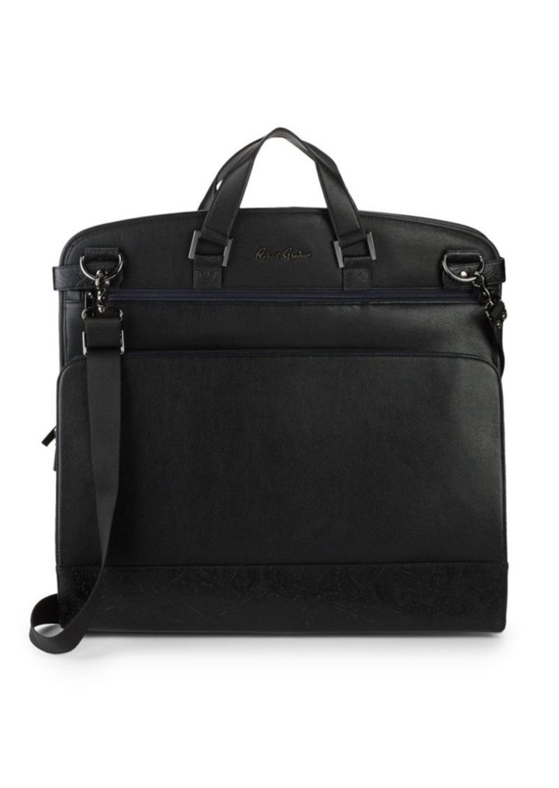 Robert Graham Embossed Leather Foldable Garment Bag