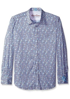 Robert Graham en's Tailored Fit Stafford Sport Shirt - edium -