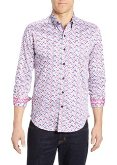 Robert Graham Everard Tailored Fit Print Sport Shirt