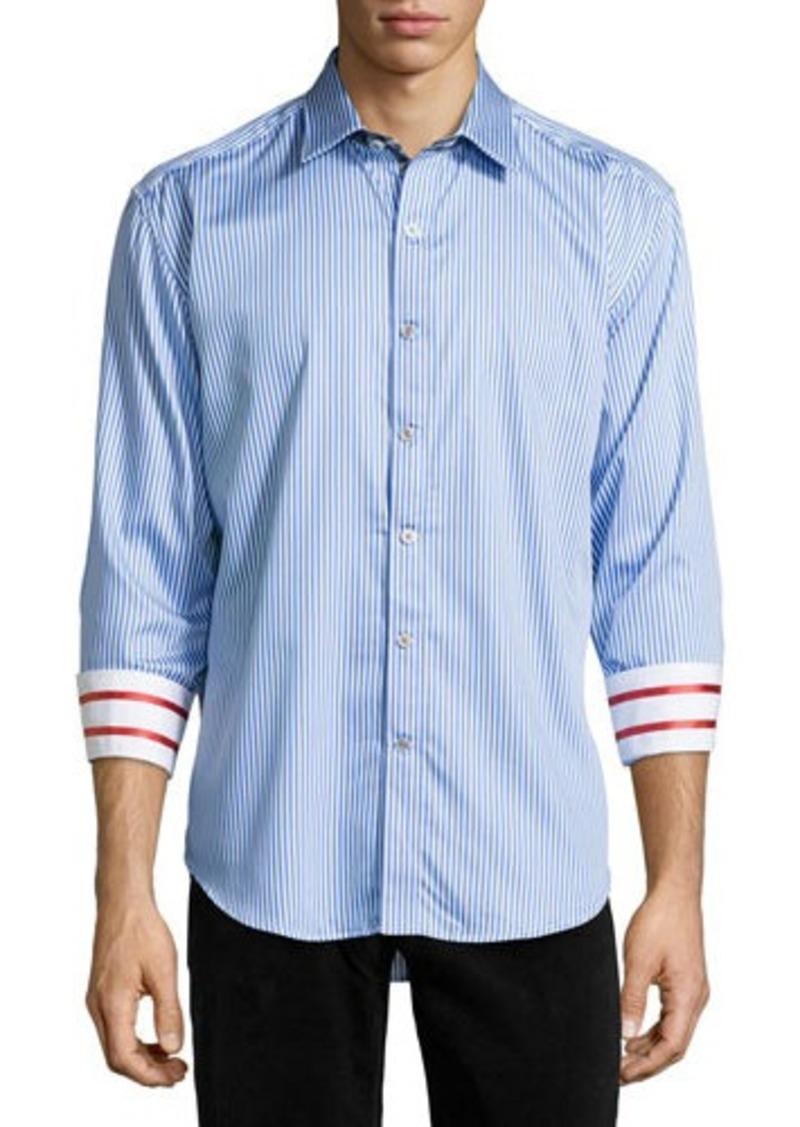 Robert graham robert graham excalibur striped tailored fit for Robert graham sport shirt