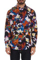 Robert Graham Fantasy Florals Linen Sport Shirt