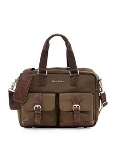 Robert Graham Faux Leather-Trimmed Nylon Duffel Bag