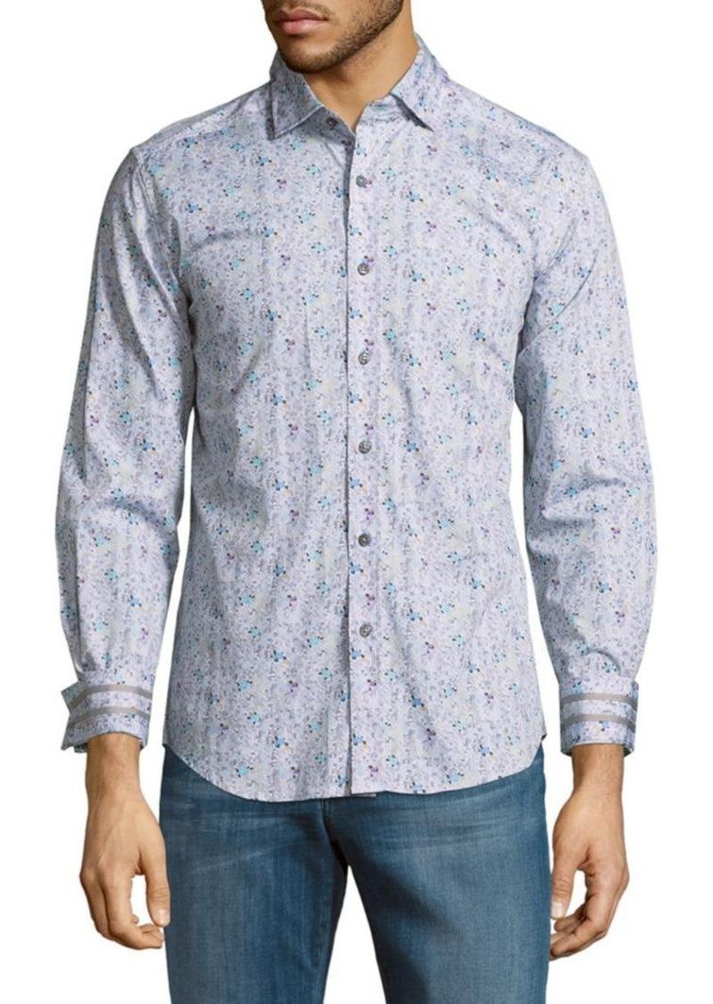 Robert Graham Floral Cotton Button-Down Shirt