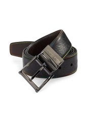 Robert Graham Gardiner Embossed Reversible Leather Belt