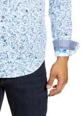 Robert Graham Garland Regular Fit Floral Button-Up Sport Shirt