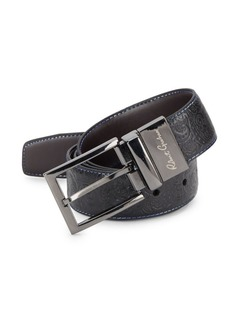 Robert Graham Garrison Paisley-Embossed Leather Belt
