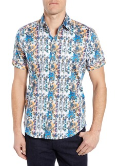 Robert Graham Gaspar Tailored Fit Print Sport Shirt
