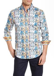 Robert Graham Gaspar Tailored Fit Print Sport Shirt