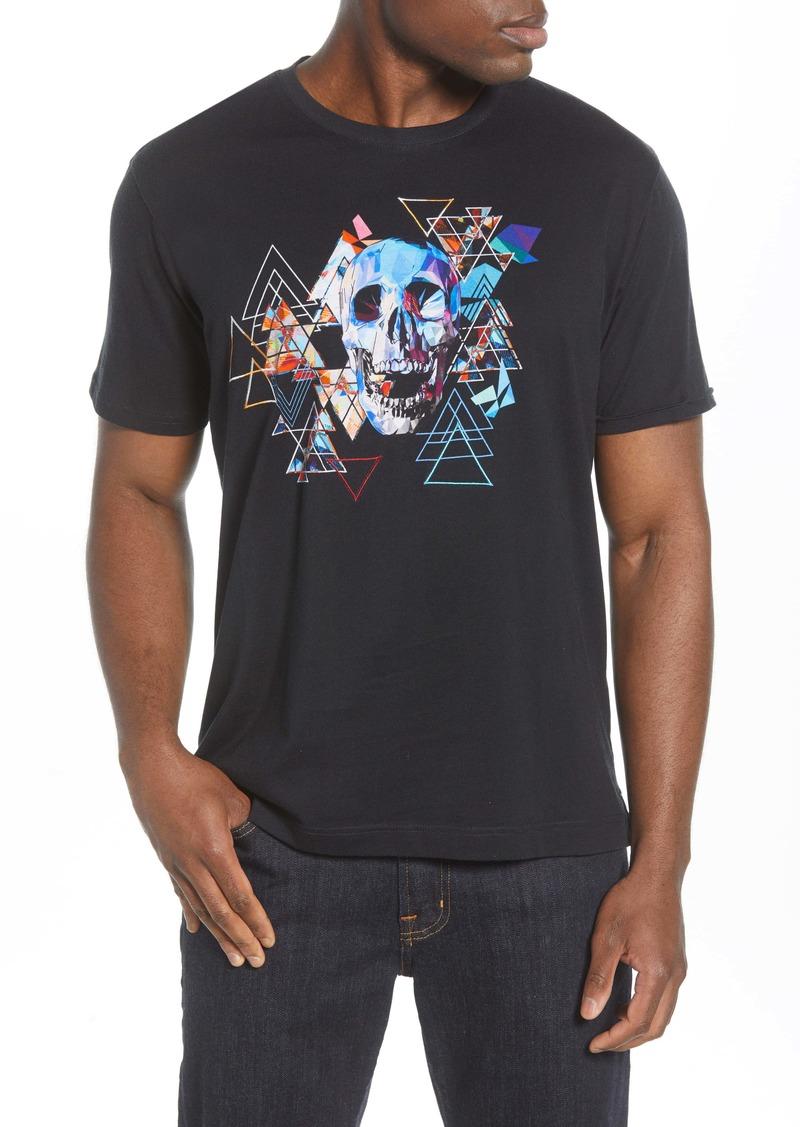 Robert Graham Geo Skull Embroidered T-Shirt