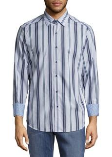 Robert Graham Glendora Striped Tailored-Fit Casual Button-Down Shirt