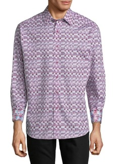 Robert Graham Graphic Cotton Button-Down Shirt